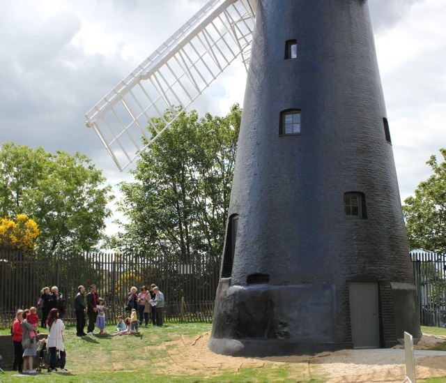 Visitors to the windmill, Saturday 14 May