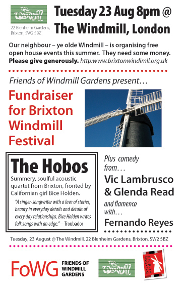 Aug 23 fundraising event leaflet